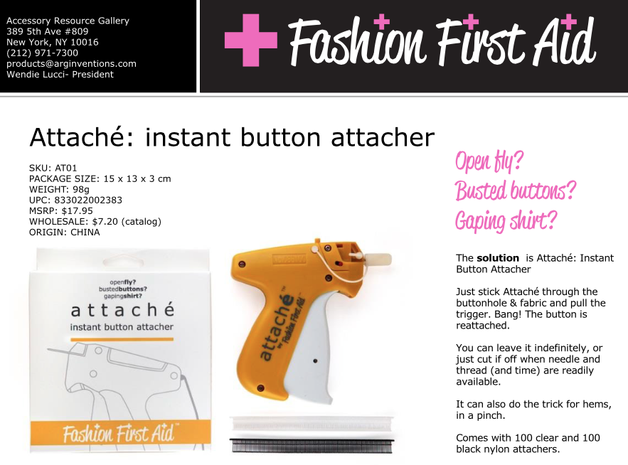 Instant Button Attacher Attaché