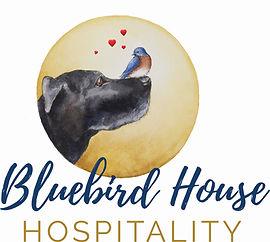 bluebird house hospitality logo hearts .