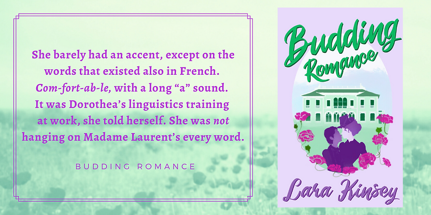 Quote from Budding Romance by Lara Kinsey