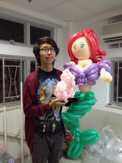 Magician Scarlet Balloon Decor 025