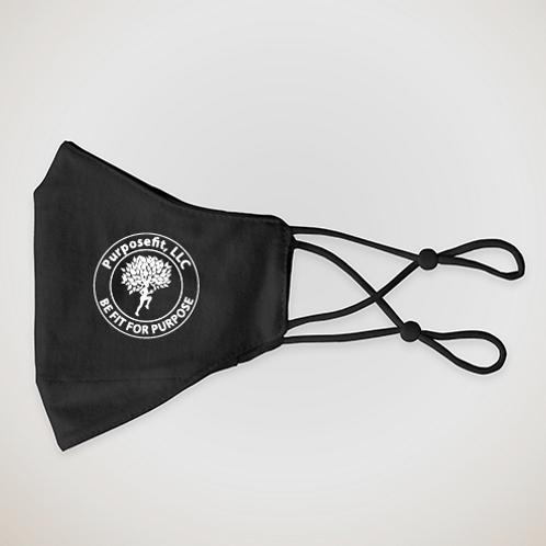 Black Side Logo Face Mask