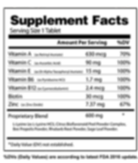 SoreVita - Vitamins for Cold Sores, Honest Supplement Facts
