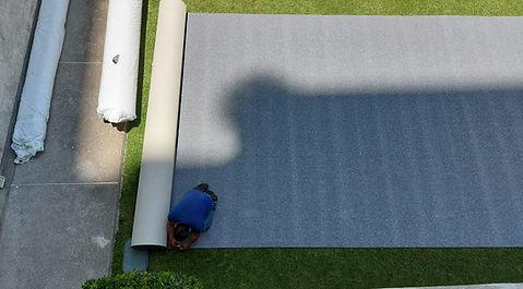 instalacion alfombra