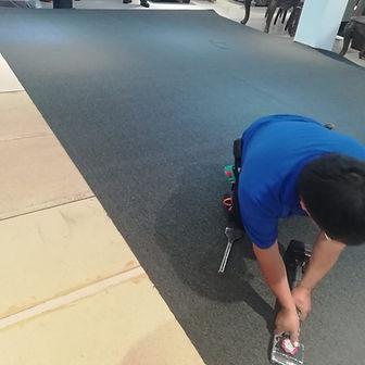 instalacion de alfombra