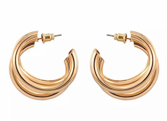 Triple Chunky Hoop Earrings