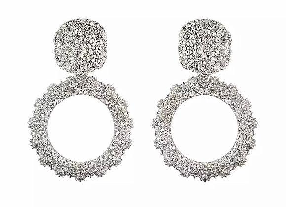 Textured Hoop Statement Earrings