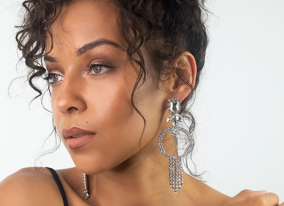 Silver Statement Drop Earrings