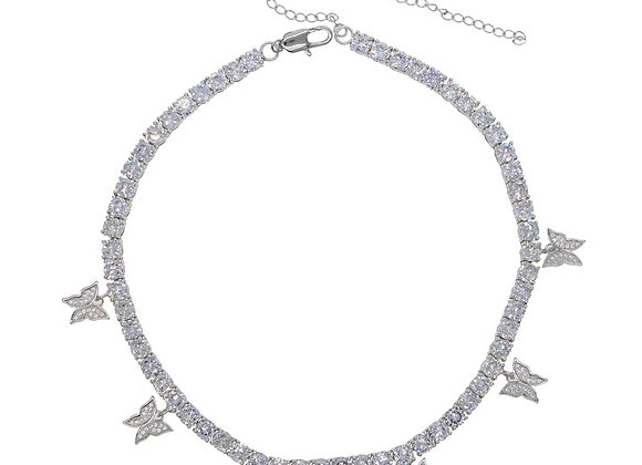Butterfly Tennis Necklace
