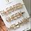 Thumbnail: Gold Diamonte Three Pk Hair Clips
