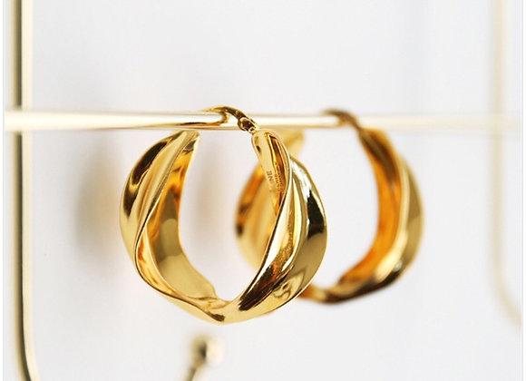 Cassie Gold Hoops