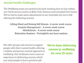 PSS Wellbeing Centres - Service Update (May 2021)