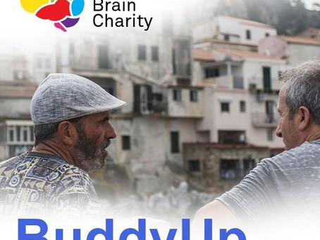 'Blokes - it's time to buddy up!' A call out from our friends at The Brain Charity.
