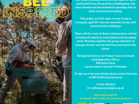 Bee Inspired (Beekeeping)  -  Supporting men's (50+) mental health.