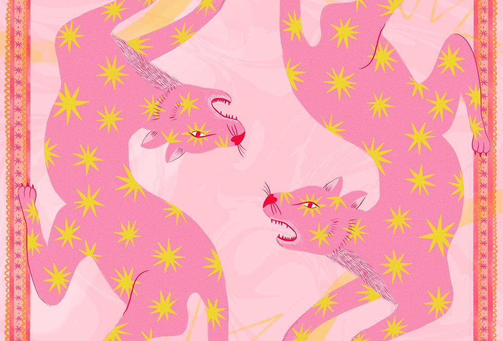 Star Tigers - A5 Mini Print