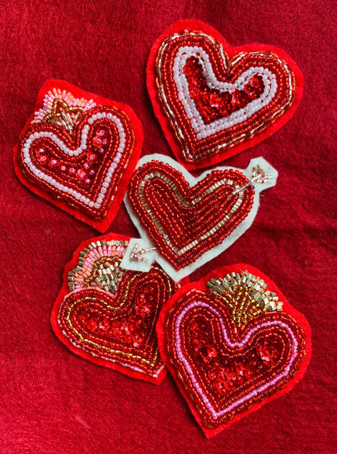 Hand Beaded Patches