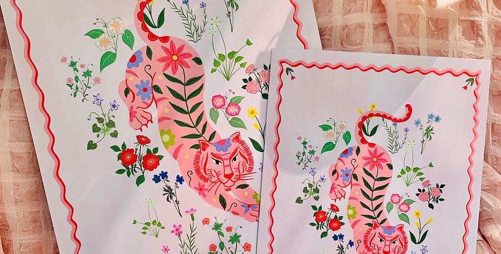 Tiger Garden Print