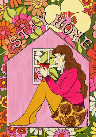 Stay Home Colouring Book