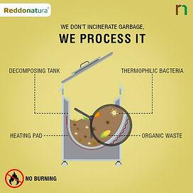 เครื่องกำจัดขยะเศษอาหารเรดโดเนทูล่าไทยแลนด์ให้เป็นปุ๋ยภายใน 24 ชั่วโมง