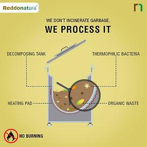 organic waste management กับเครื่องกำจัดขยะเศษอาหารเรดโดเนทูล่าที่ไม่ต้องเผาขยะอีกต่อไป