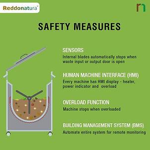 ระบบนิรภัยระดับมืออาชีพกับเครื่องกำจัดขยะเศษอาหารเรดโดเนทูล่า