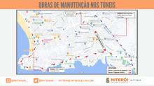 Túneis Roberto Silveira e Raul Veiga, na Zona Sul de Niterói, passarão por obras de manutenção