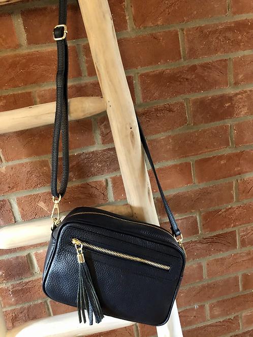 Leather Camera Bag - Black
