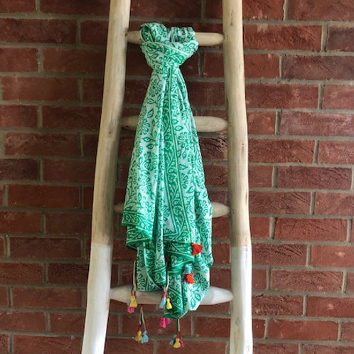 Printed Scarf - Green