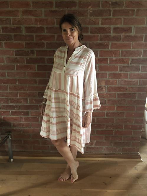 Stripe Day Dress -Pink