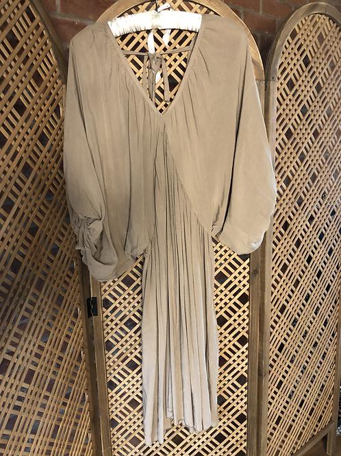 Draped Dress - Natural