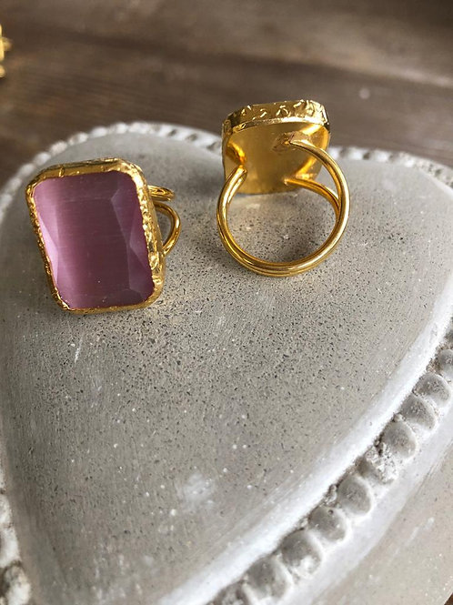 Square Cocktail Ring - Square