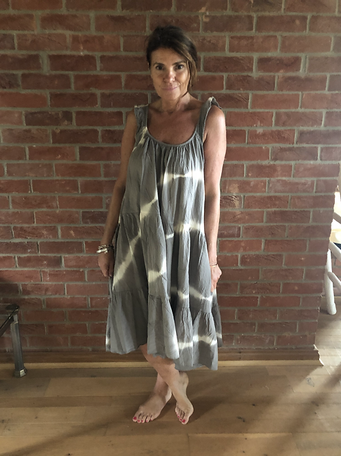 Tie Dye Dress -Khaki
