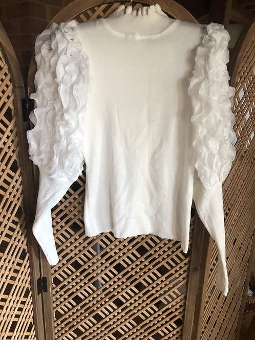 Ruffle Top - Cream