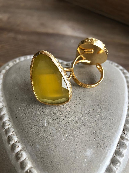 Cocktail Ring - Honey Yellow