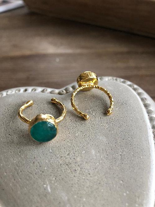 Stacking Ring - Emerald