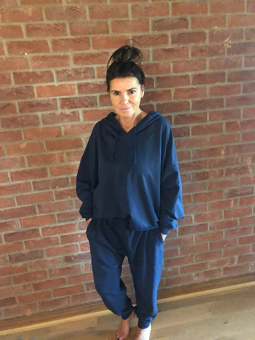 Hooded Lounge Suit - Navy