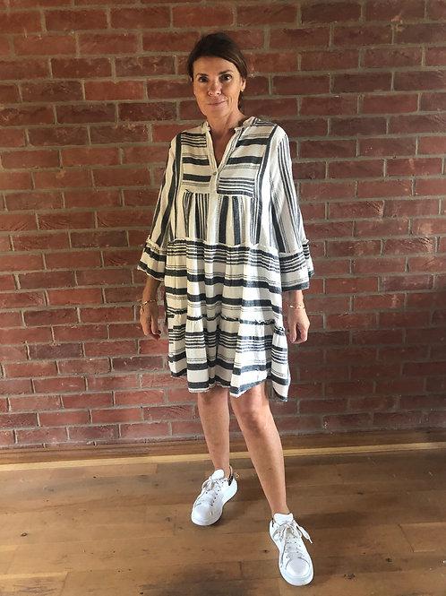 Stripe Day Dress - Black