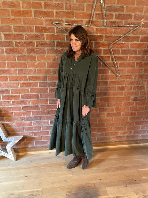 Long Corduroy Dress - Khaki