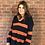 Thumbnail: Boyfriend Stripe Jumper - Navy & Orange