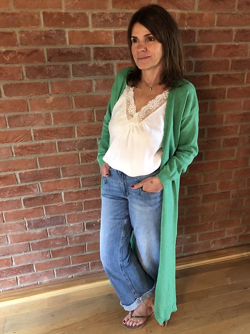 Long Cardigan - Emerald Green