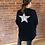 Thumbnail: Glitter Star Cardigan - Navy