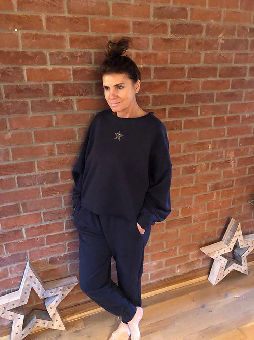 Star Lounge Suit - Navy