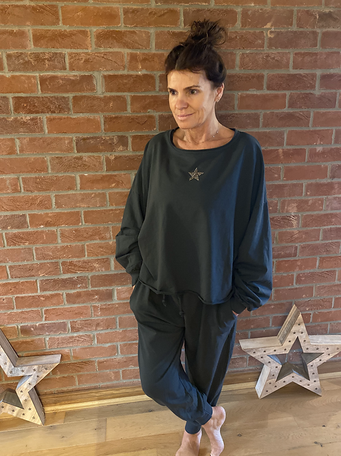 Star Lounge Suit - Charcoal
