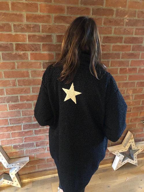 Star Coat - Black