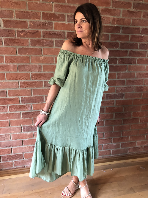 Milly Dress - Green