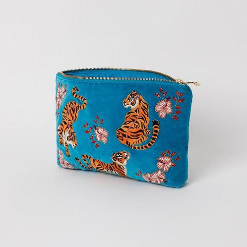 Elizabeth Scarlet - Azure Tiger Pouch
