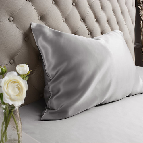 Silk Housewife Pillowcase - Grey