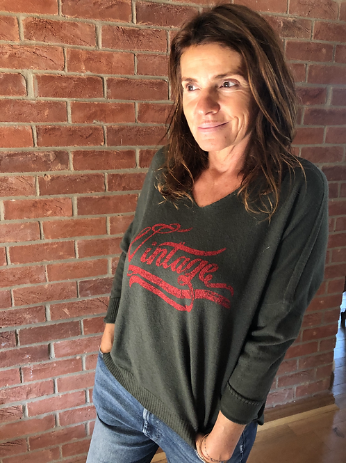 Vintage Sweater - Khaki