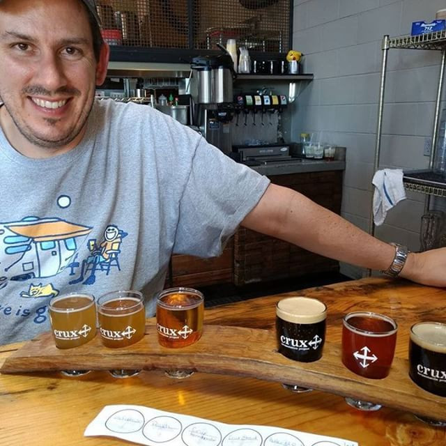 Amazing brewery in Oregon called Crux Fermentation.  Here is a picture of the beer flight we had last summer