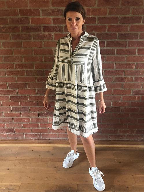 Stripe Day Dress - Khaki