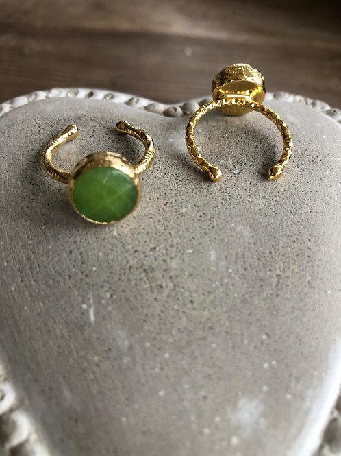 Stacking Ring -Apple Green